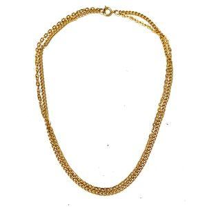Vintage Gold Double Chain Necklace
